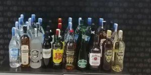 Gebze'de kaçak içkiler ele geçirildi