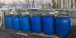Amasya'da 550 litre sahte içki ele geçirildi