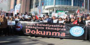 İzmit Belediyesi'nin önünde eylem yaptılar !