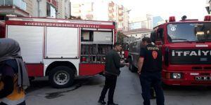 Gebze'de bina yangını