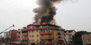 Bina yangını ! Çevre ilçelerden takviye ekip çağırıldı