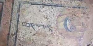 Şanlıurfa'da izinsiz kazıda 4. yüzyıla ait mozaik ortaya çıktı