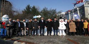 KarFest'in tanıtımında kar sürprizi