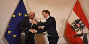 AB Konseyi Başkanı Michel, Avusturya Başbakanı Kurz ile görüştü