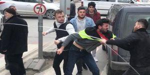 Gebze'de yol vermeme kavgası