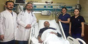 Sağ kalp kapak yetersizliği olan hastaya Türkiye'de ilk kez kapalı yöntemle müdahale