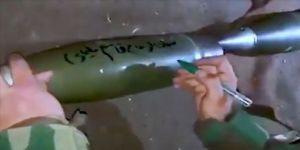 Sivilleri vurdukları bombaların üzerine Süleymani'nin ismini yazdılar