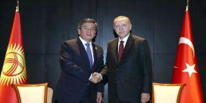 Cumhurbaşkanı Erdoğan Kırgız mevkidaşı Ceenbekov ile telefonda görüştü