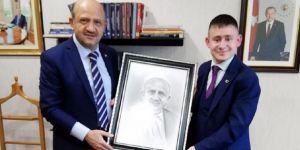 Türkiye'nin en genç muhtar adayı TBMM de misafir oldu