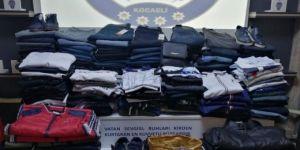 Kocaeli'de mağazalardan 100.000 TL değerinde giyim eşyası çaldılar