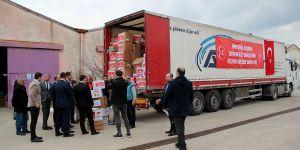 MHP'nin 'göçmen kreşi' yardım tırı Edirne'ye ulaştı