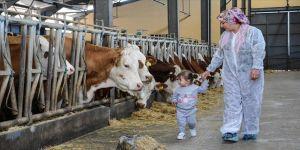 Bileziklerini satarak başladığı süt üreticiliğinde milyonluk tesis kurdu