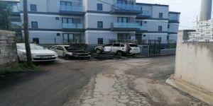 Darıca'da araç yangını ! 3 araçta  hasar meydana geldi