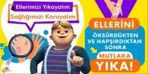 TRT Çocuk yayınlarında temizlik ve hijyen vurgusu