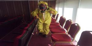 Körfez Ticaret Odası'nda korona virüs önlemi