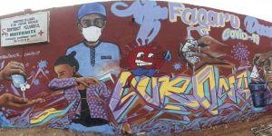 Senegalli grafiti sanatçıları koronavirüse karşı spreyleriyle 'savaşıyor'