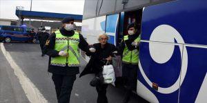 Jandarmadan yolcu otobüslerinde koronavirüs denetimi
