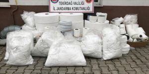 Tekirdağ'da kaçak üretilen 15 bin maske ele geçirildi