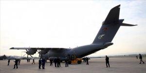 MSB: Sağlık malzemelerini taşıyan TSK'ye ait uçak İspanya'ya iniş yaptı