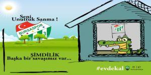 Futbolu özleyen Bursaspor taraftarı evleri tribüne çeviriyor