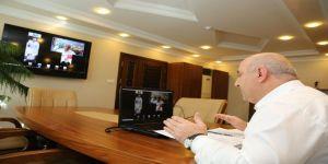 Başkan, muhtarlarla video konferansla toplantı yaptı