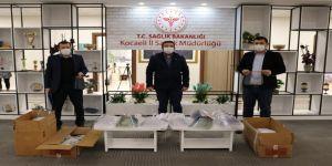 Bilim Merkezi ve Kocaelili Annelerin  ürettiği maskeler kamu kurumlarına dağıtıldı