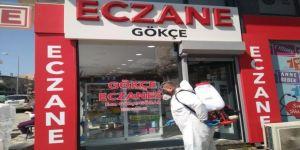 Gebze'de eczanelerde dezenfekte çalışmaları