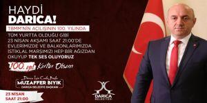Darıca'da 23 Nisan'ın 100. yılına özel kutlama