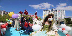 Büyükşehir Şehir Tiyatroları çocuklara bayram havası yaşattı