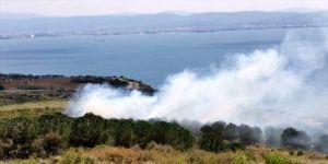 Gebze'de meydana gelen yangında 1 dönümlük alan zarar gördü