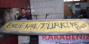 'Evde kal Türkiye/Kars' yazılı 2,20 metrelik pide açık artırmayla satıldı
