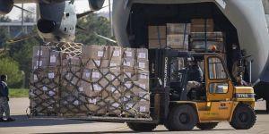 Türkiye'den ABD'ye tıbbi yardım taşıyan askeri nakliye uçağı havalandı