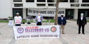 1 Mayıs Emek ve Dayanışma Günü'nü 'grev'de kutladılar