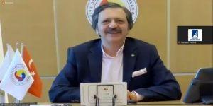 """TOBB Başkanı Hisarcıklıoğlu,""""Kesinlikle umutsuz olamayız"""""""