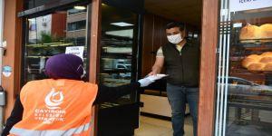 Çayırova'da 1600 esnafa maske