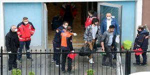 Zonguldak'ta karantina süresi sona eren 360 kişi memleketlerine uğurlandı