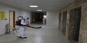 Karantina yurtları düzenli olarak dezenfekte ediliyor