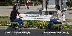 Sağlık Bakanı Koca'dan 'sosyal mesafeli bank' paylaşımı