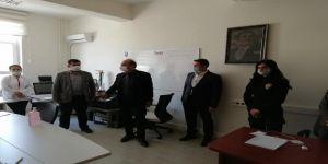 Karamanve Alaca,Darıca ilçesinde filyasyon çalışması yürüten ekibi ziyaret etti