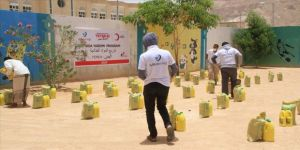 Türk Kızılayın Yemen'de gıda yardımları devam ediyor