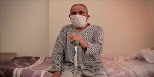 Beyin tümörüyle mücadele eden Hüseyin Korkmazoğlu Kovid-19 sürecinde güvenli ellerde