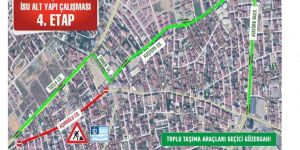 Darıca'da Bir Caddede geçici güzergah uygulaması