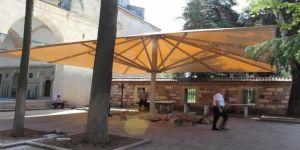 Mustafa Paşa'nın avlusuna dev tente yapıldı
