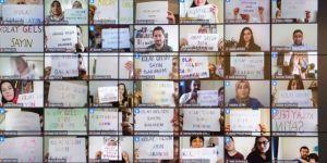 Düzce'deki öğretmenlerden Bakan Ziya Selçuk'a 'kolay gelsin' mesajı