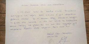 Karantinada kalan vatandaşların, öğrenciler için bıraktıkları mektuplar duygulandırdı