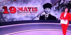 """TRT'nin """"19 Mayıs Cumhuriyet Bayramı"""" hatası sosyal medyada tepki çekti"""