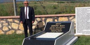 Türk kadınının kahramanlık timsali Şehit Şerife Bacı için temsili mezarlık