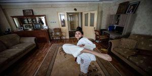 Milli sporcu hazırlıklarını 'tekvandocu ailesiyle' sürdürüyor