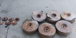 MSB,tespit edilen 11 antitank mayınının imha görüntülerini paylaştı