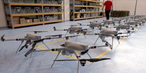 Kamikaze drone üretimini ilk kez  görüntüledi